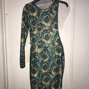 Dresses & Skirts - NWOT PEACOCK FEATHER DRESS